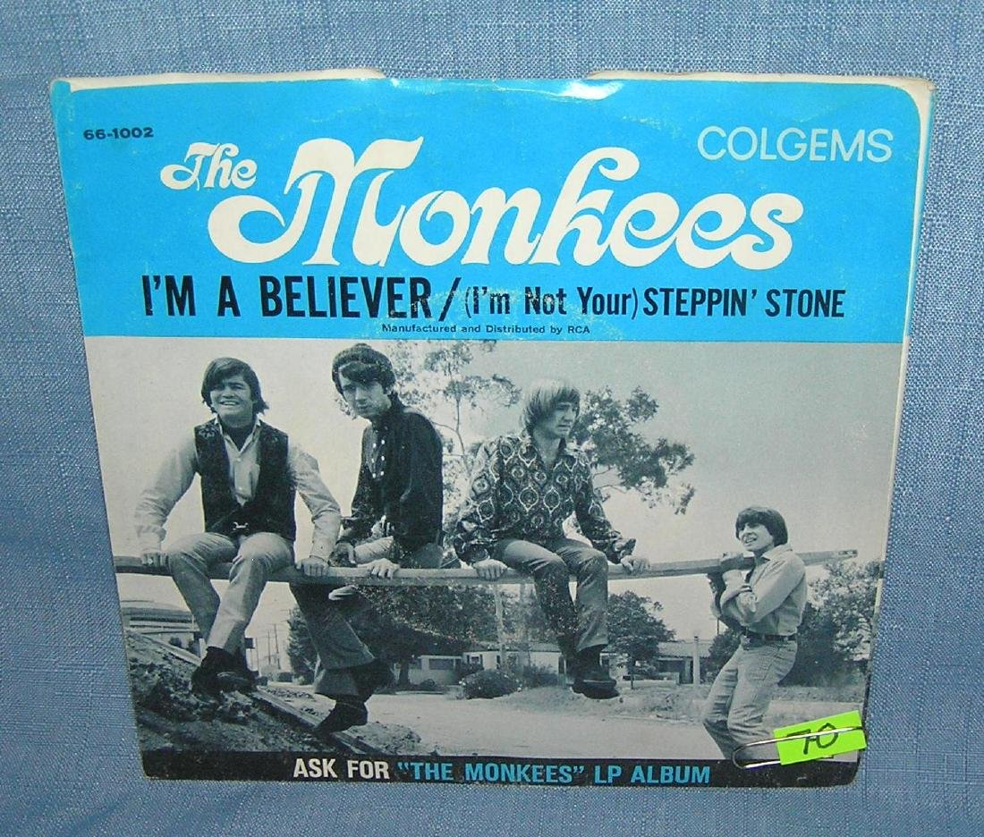 Collection of vintage Monkees 45 RPM records