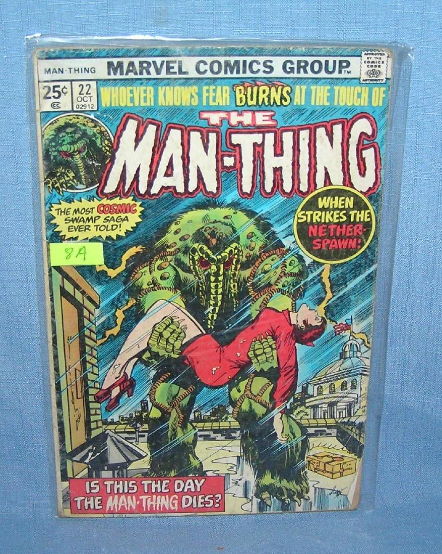 Vintage Marvel Man-thing comic book