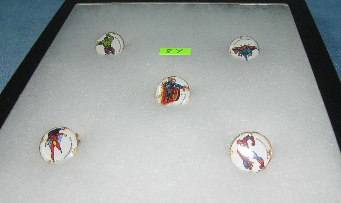 Group of Super Hero character rings