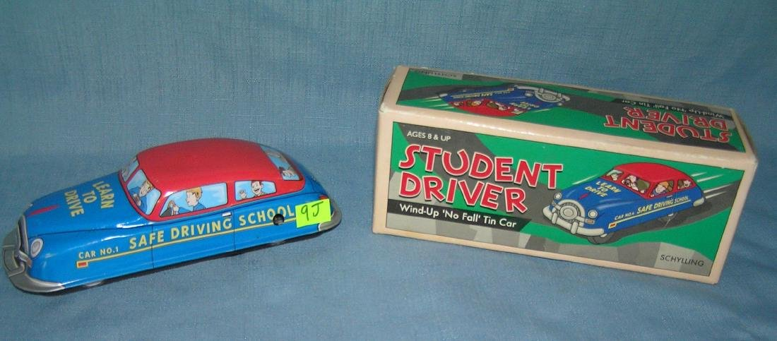 All tin windup student driver mechanical car