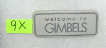 Gimbel's Department stores employee badge