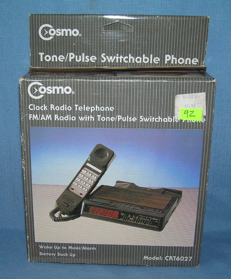 Clock radio telephone FM/AM radio