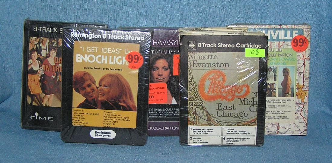 Group of vintage 8 track tapes