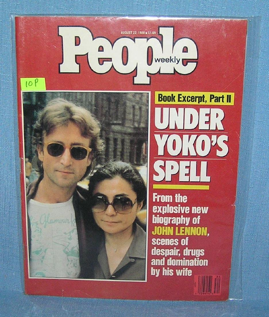 John Lennon and Yoko Ono on People magazine