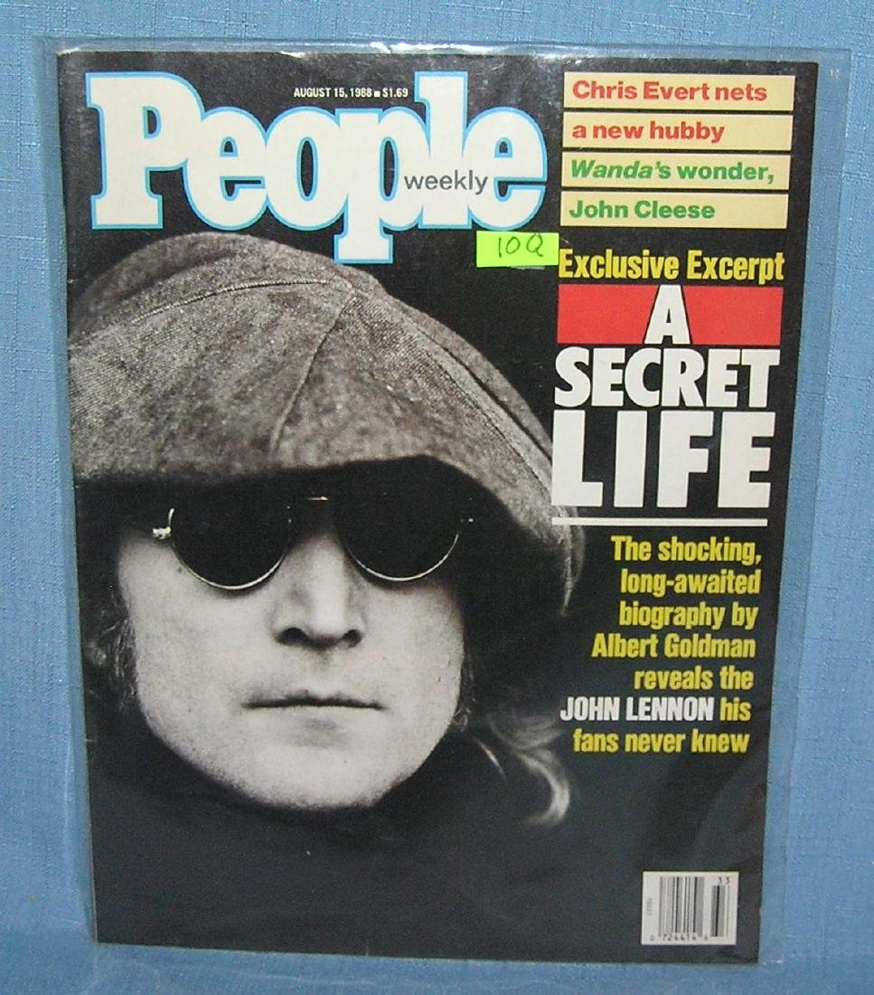 John Lennon on the cover of People magazine