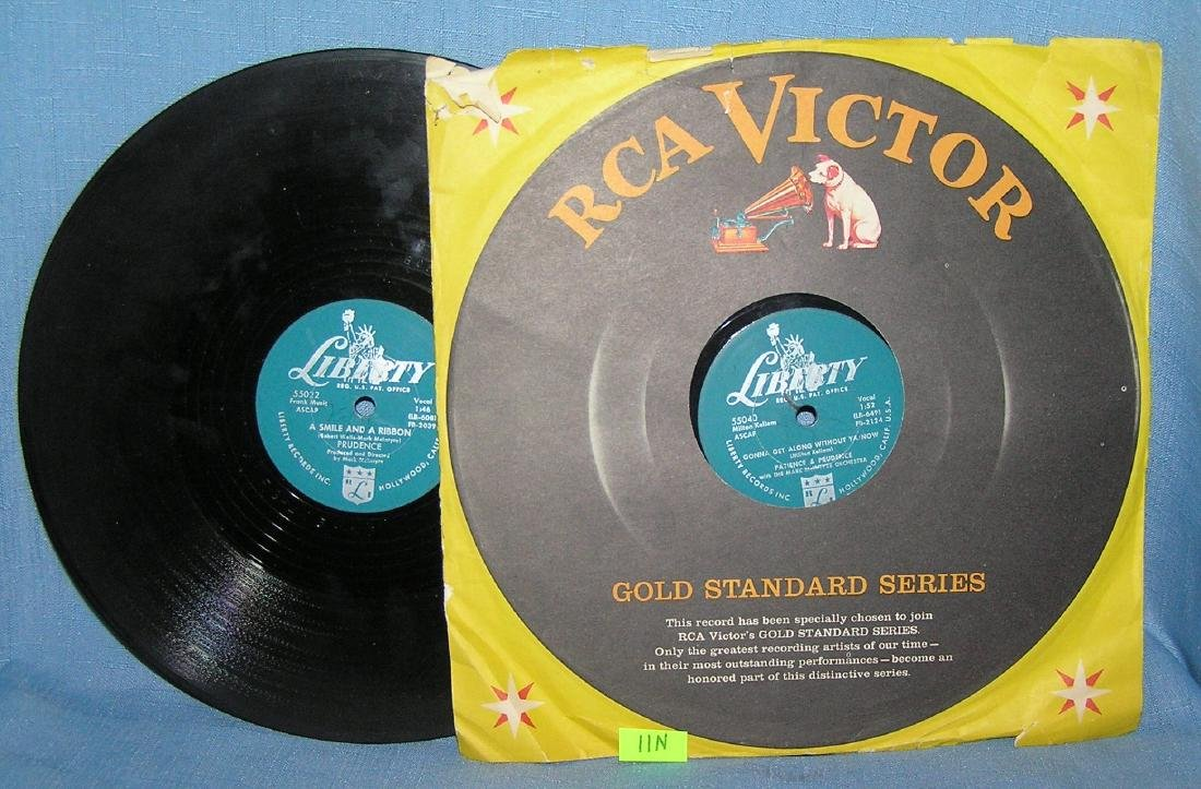 Patience and Prudence 78 RPM records by RCA Victor