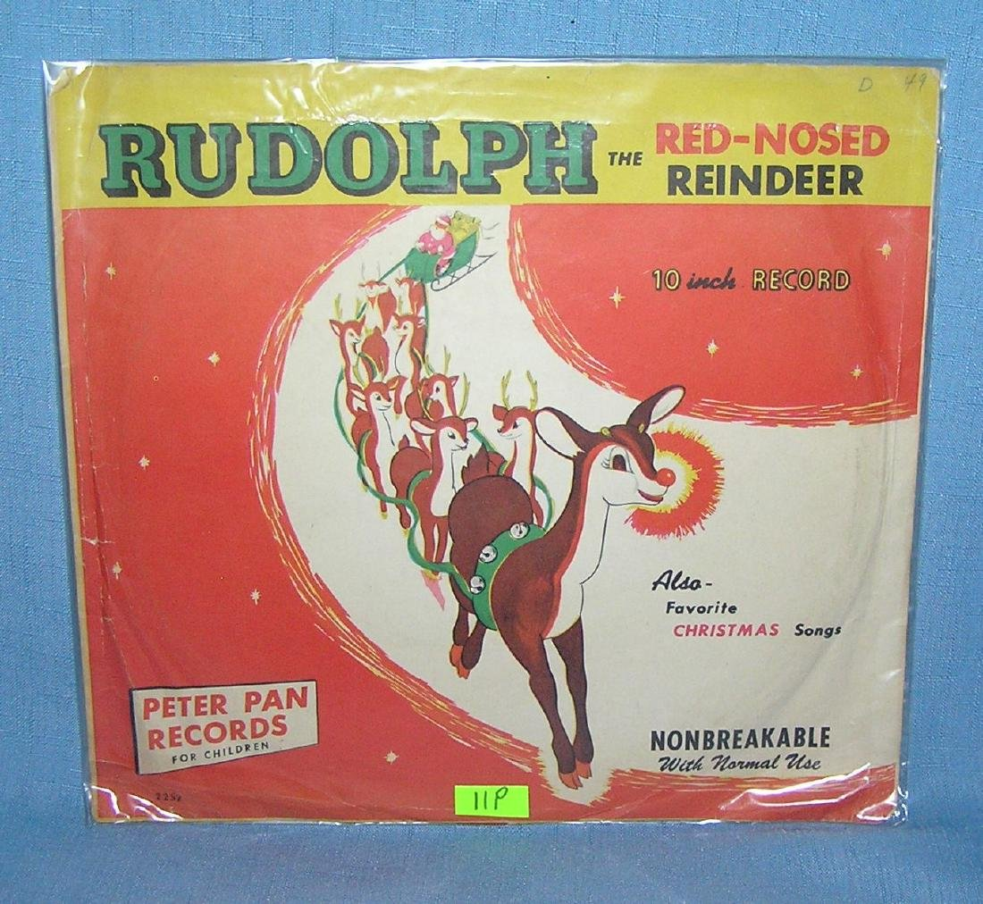 Rudolph the Red Nosed reindeer 78 RPM record