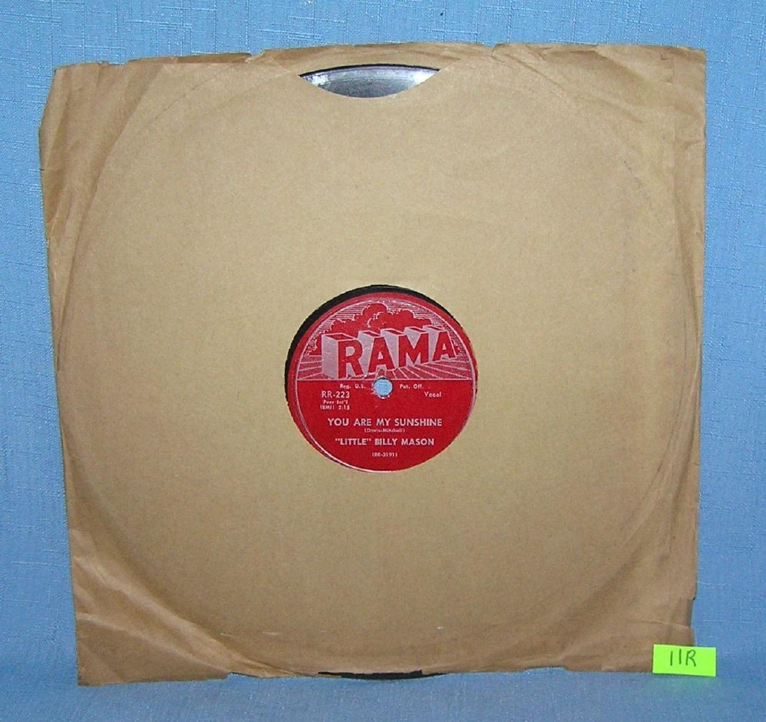 Vintage Little Billy Mason 78 RPM record album