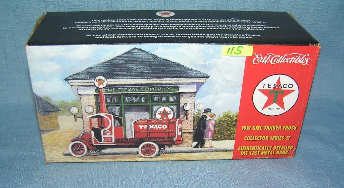 All cast metal 1919 Texaco tanker truck bank
