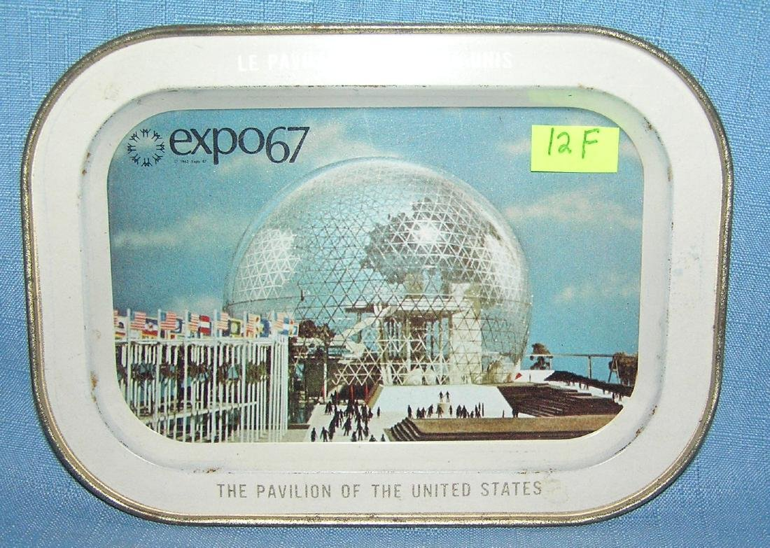 Expo '67 US pavilion souvenir tray