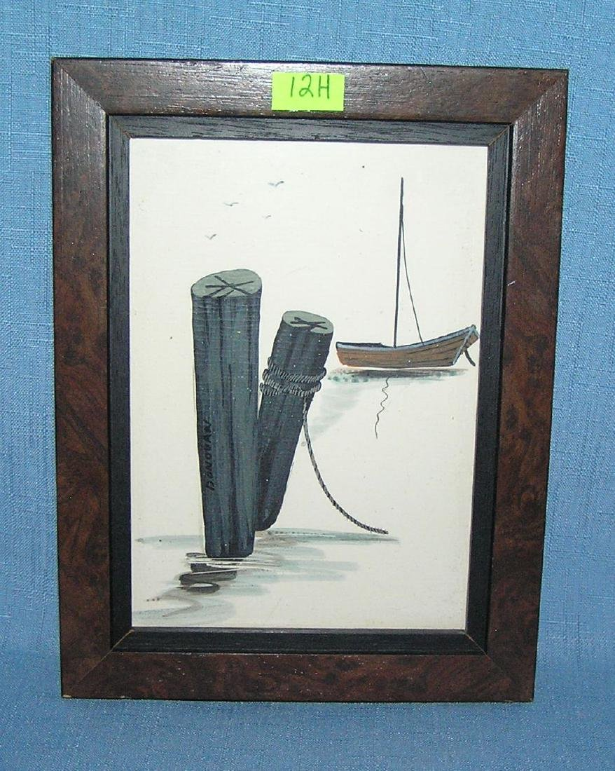 Artist signed nautical art work signed Donavan