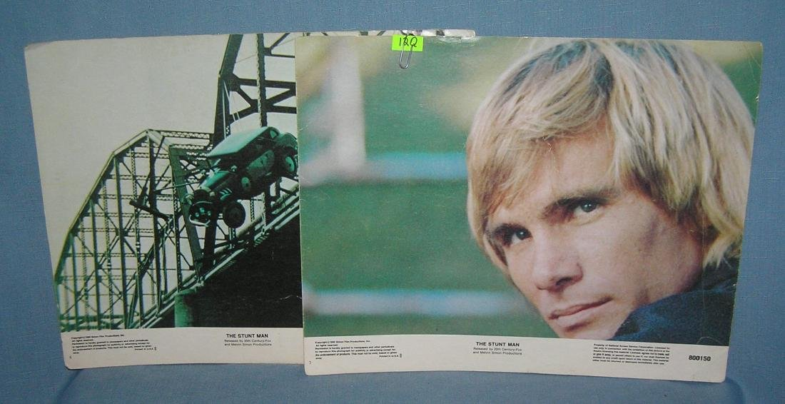 Pair of movie photo posters from the Stuntman