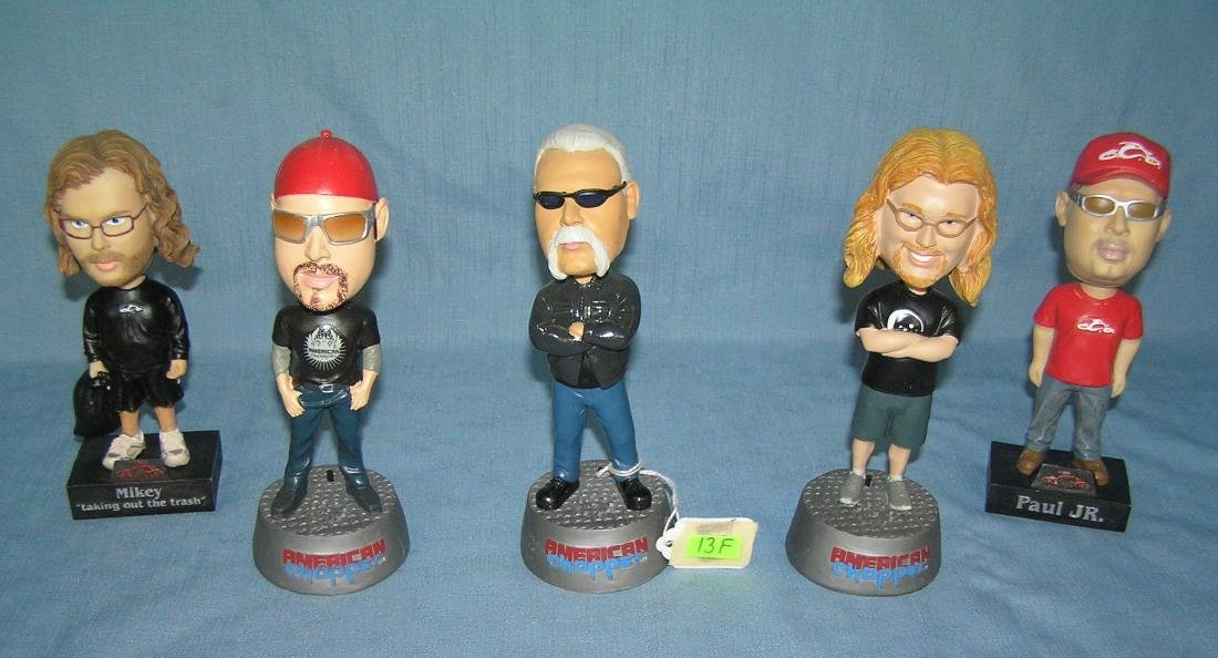 Collection of American Chopper talking bobble heads
