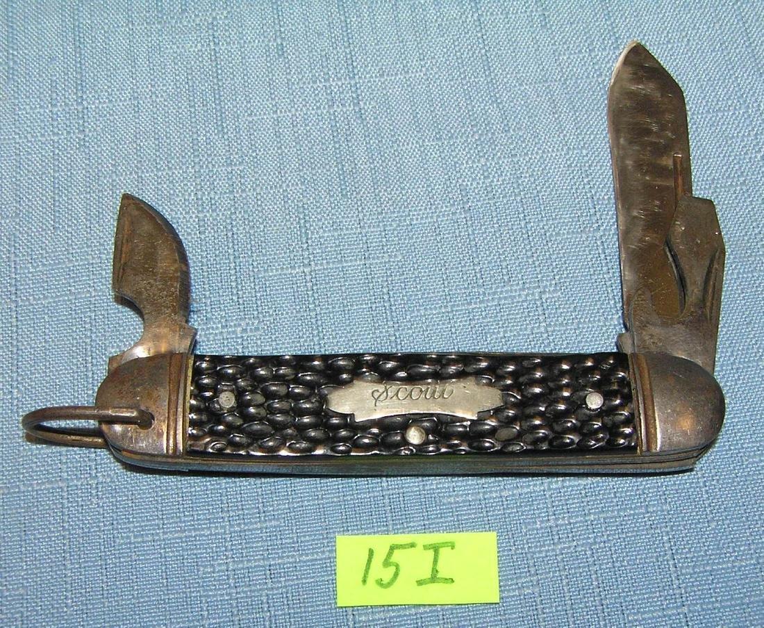 Vintage scout 3 bladed pocket knife
