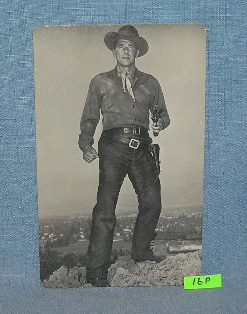 Ronald Reagan western movie photo post card
