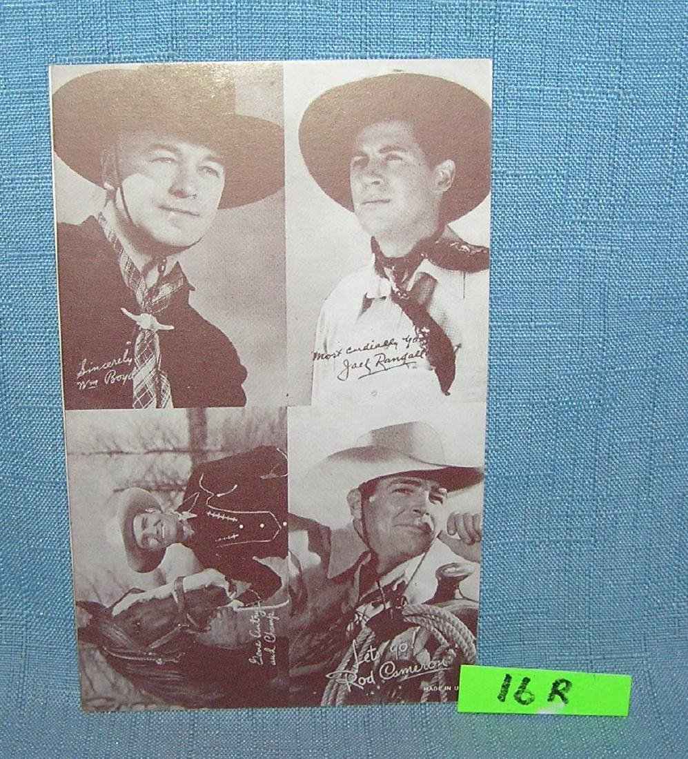 Hopalong Cassidy and more arcade exhibit card