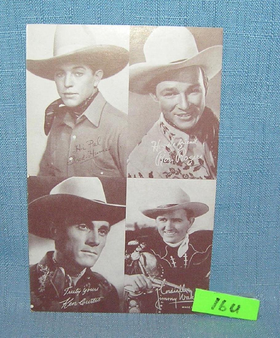 Roy Rogers and others arcade exhibit card