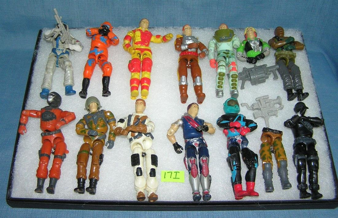Vintage action figures and accessories