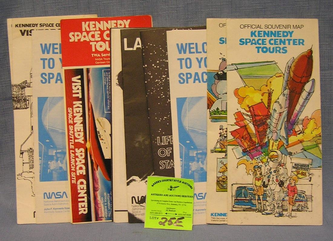 Vintage space related maps and booklets