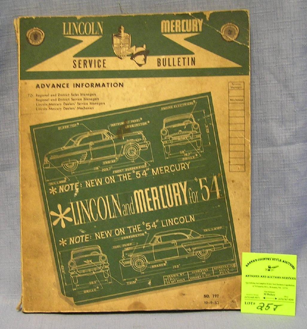 Vintage Lincoln Mercury service manual of 1954