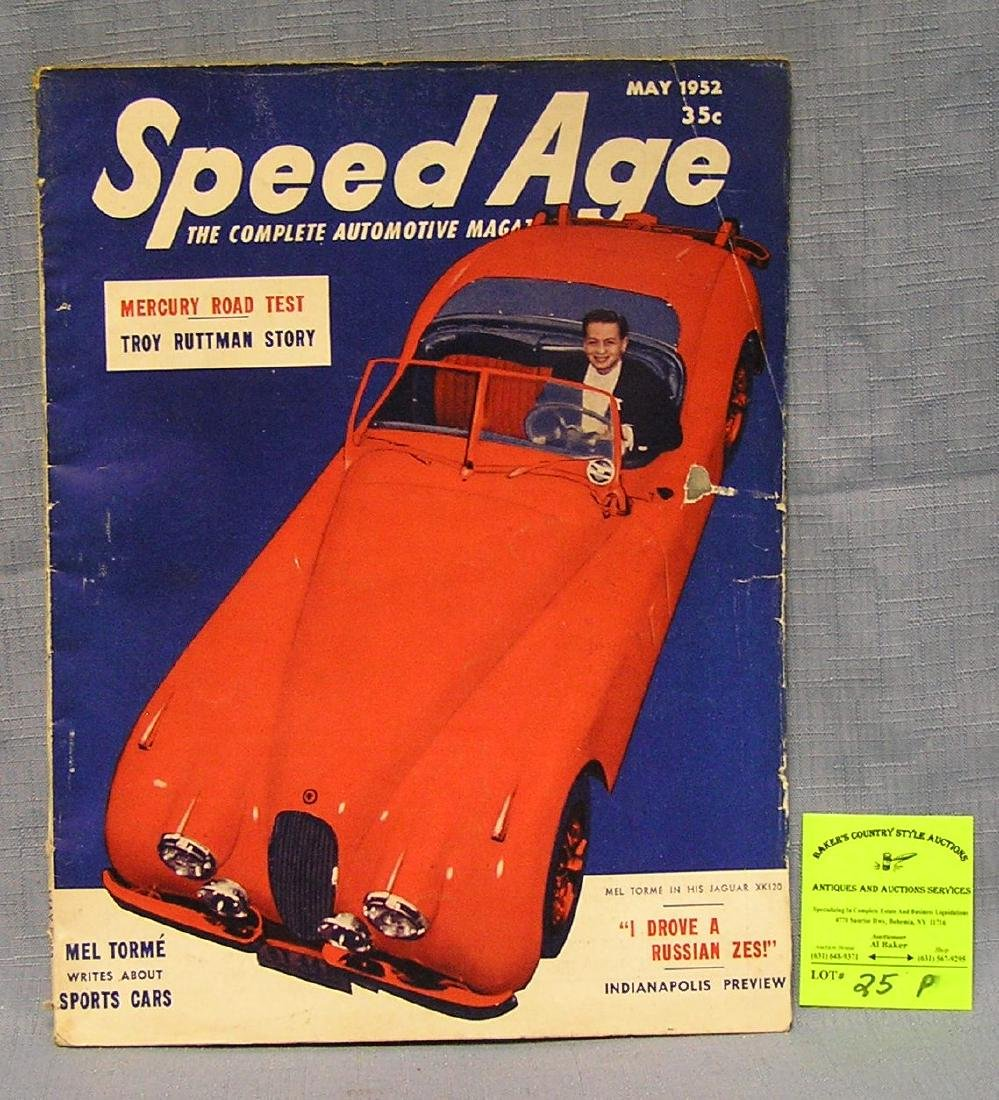 Vintage Speed Age automotive magazine