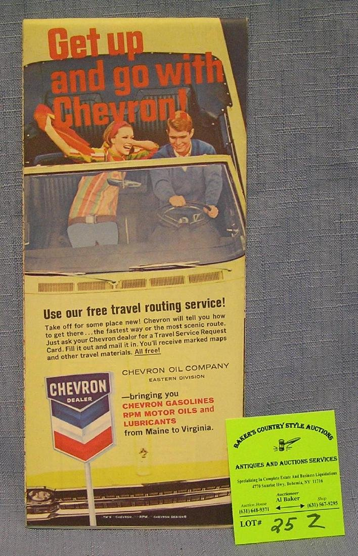 Vintage Chevron gasoline road map