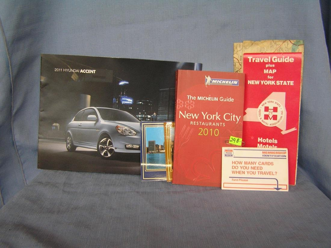 Vintage automotive and travel memorabilia