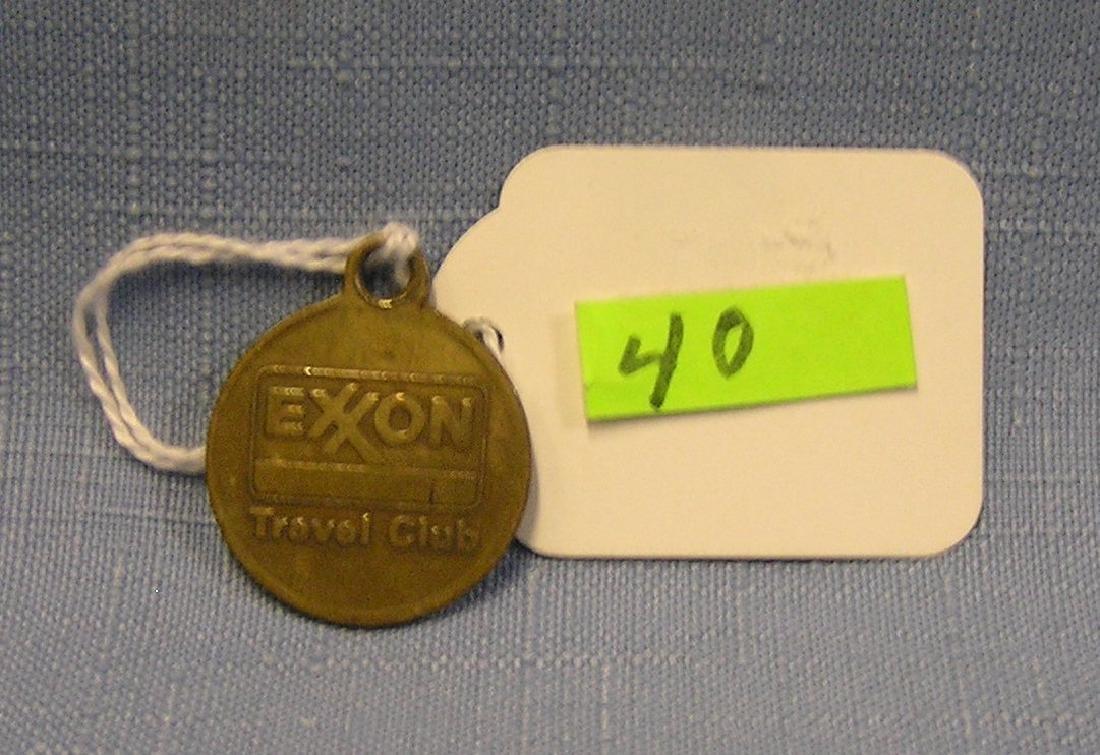 Early Exxon travelers club advertising ID tag