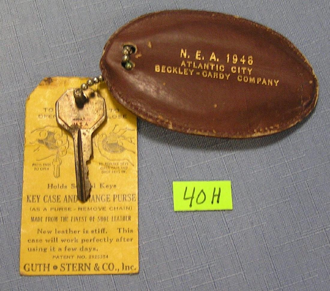 Vintage car key with Atlantic city NEA key holder