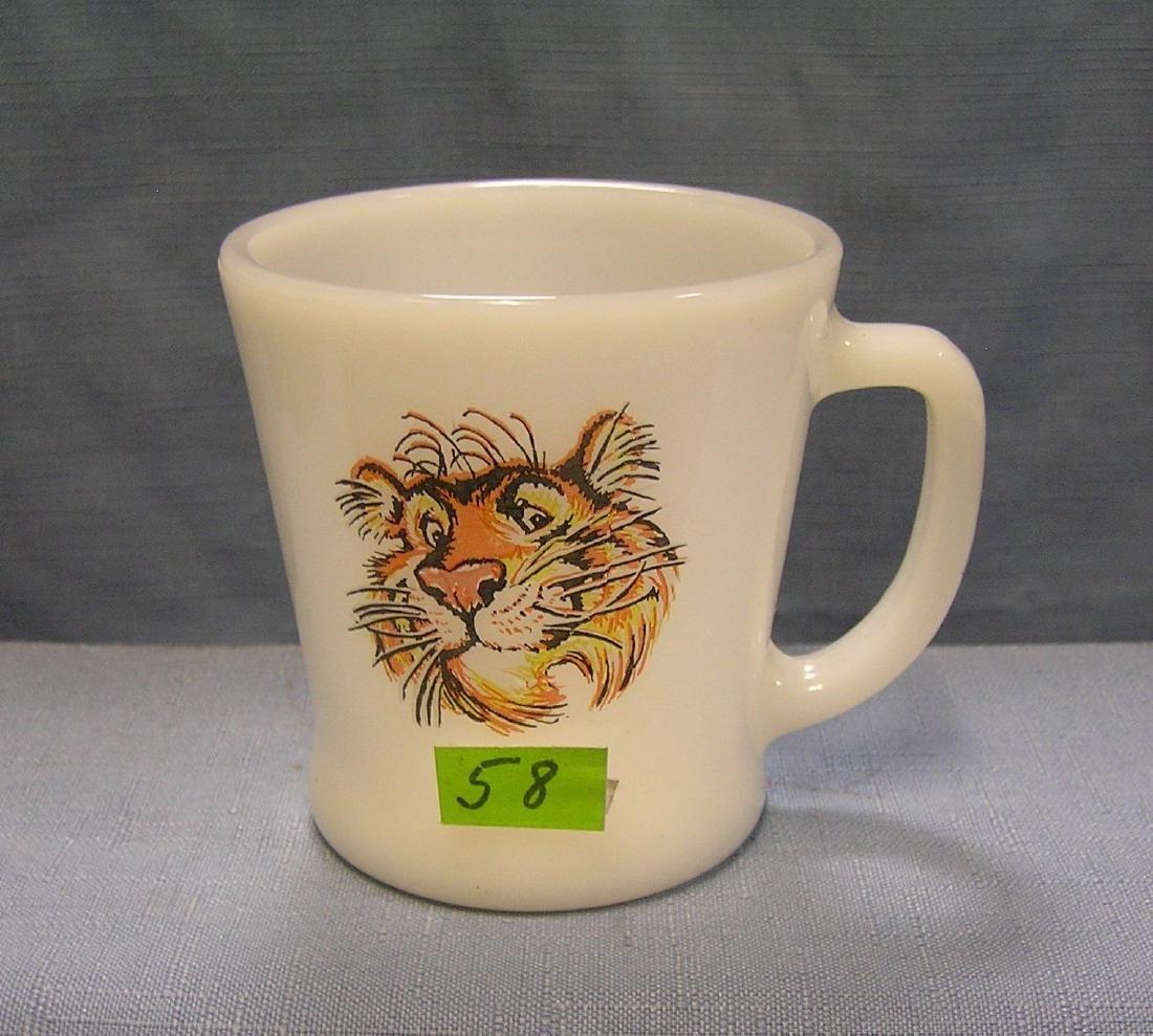 Vintage Exxon Milk Glass coffee cup