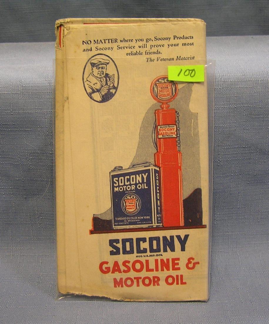Antique Sucony Gas road map
