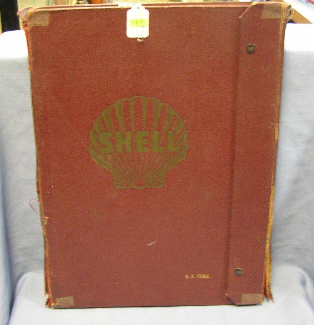 Shell Gas Co. salesman sample road map kit