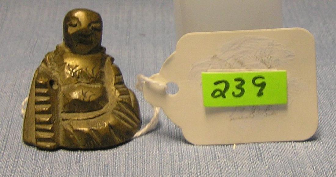Vintage bronze Buddha paperweight