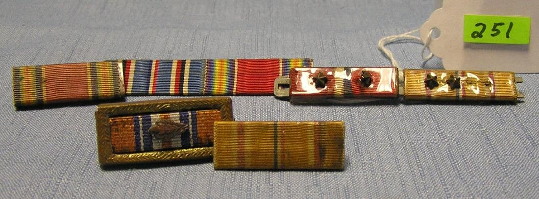 Collection of WWII military bars