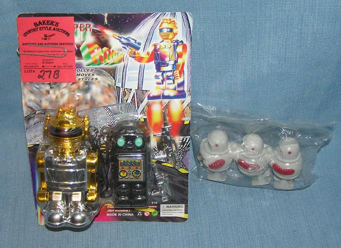 Group of robot toys