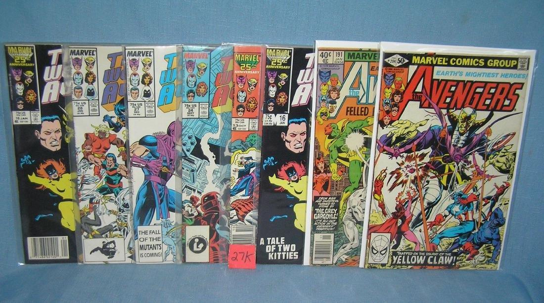 Group of vintage Marvel Avengers comic books