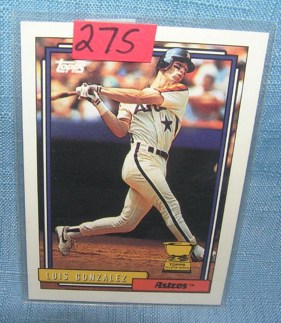 Luis Gonzalez rookie baseball card