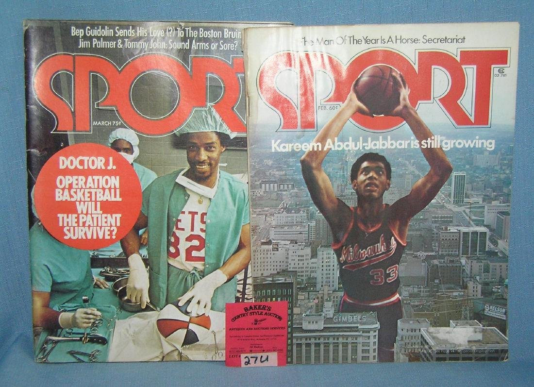 Pair of basketball themed sports magazines