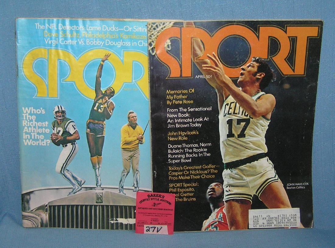 Pair of vintage sports magazines