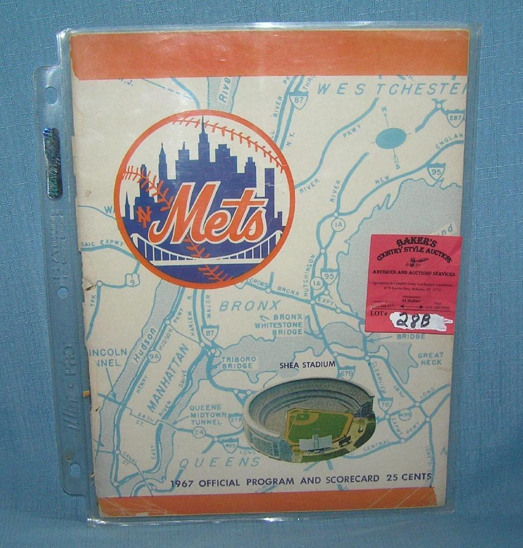 NY Mets 1967 program and score card