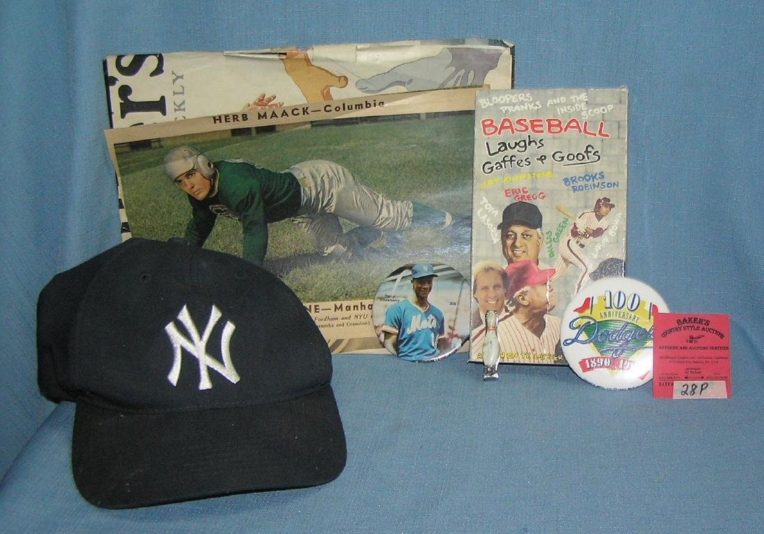 Group of misc. sports collectibles