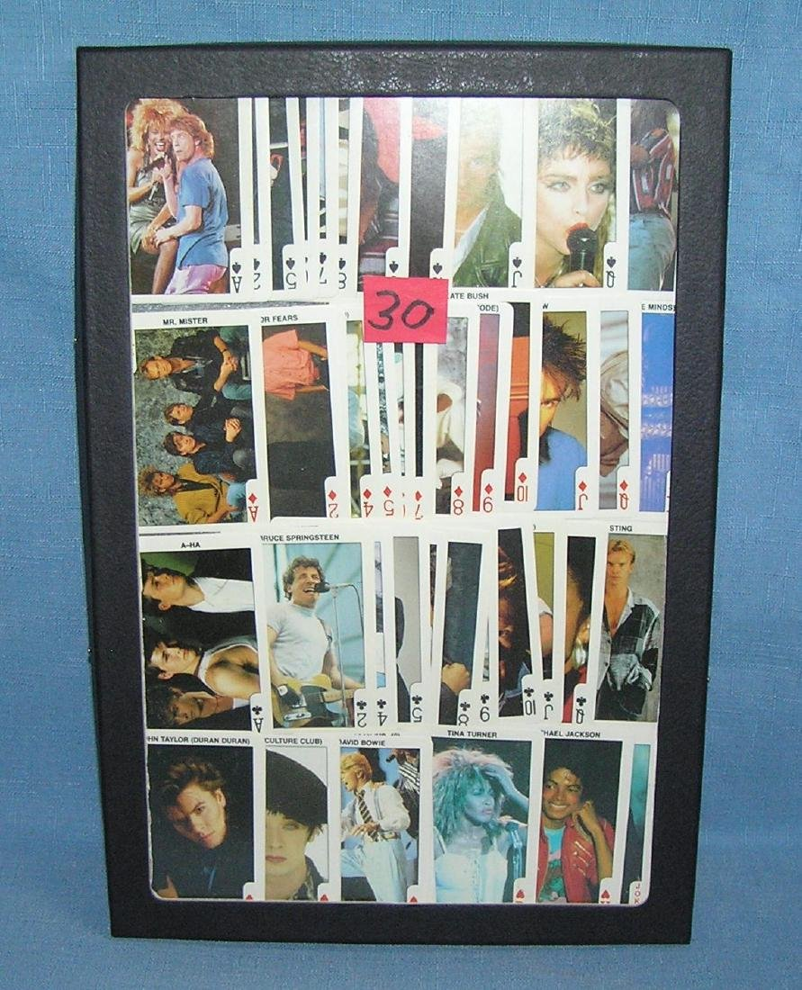 Rock and Roll all star photo playing cards