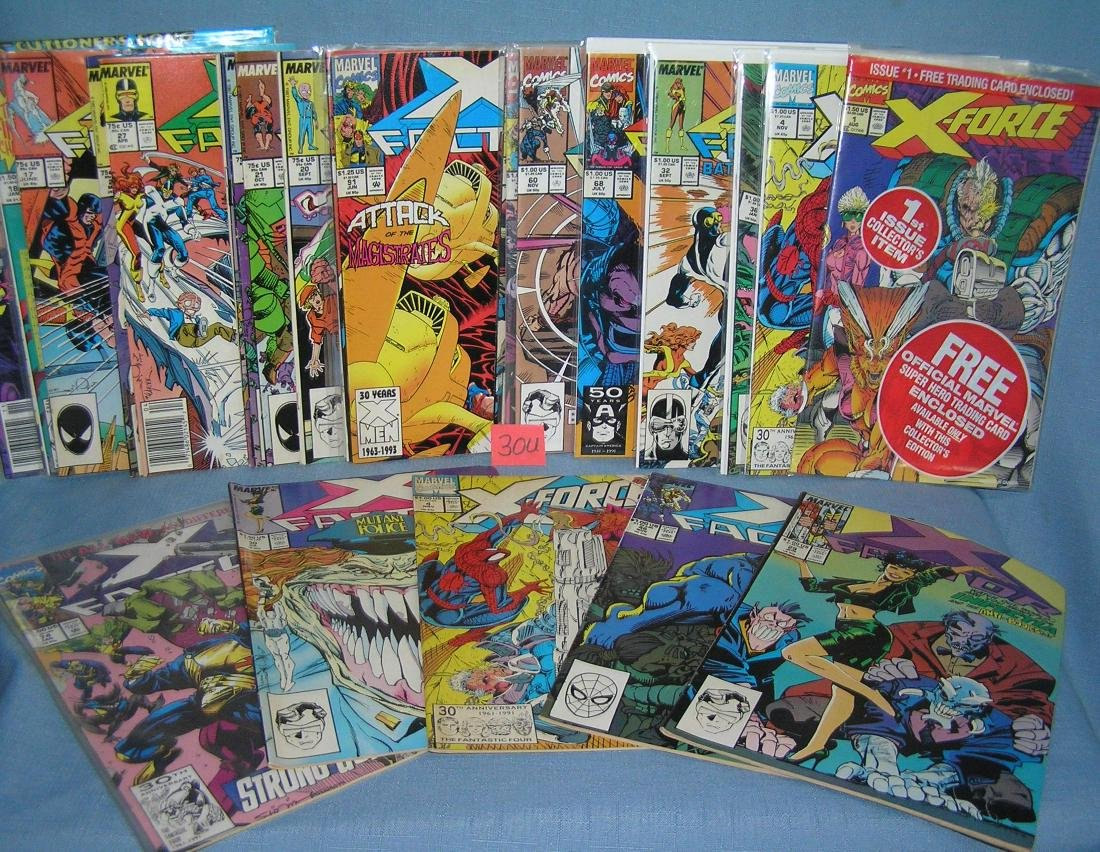Collection of vintage Xmen and related comic books