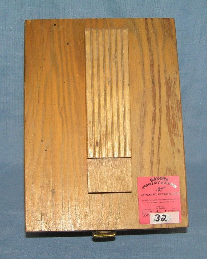 Vintage maple shoe shine box