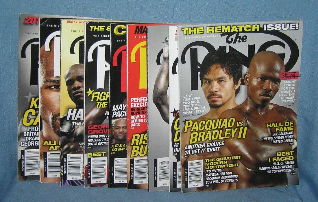 Group of vintage boxing magazines