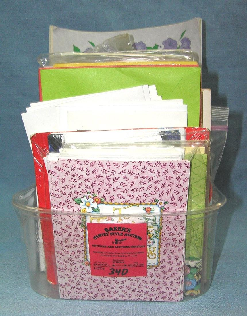 Box full of all occasion and greeting cards