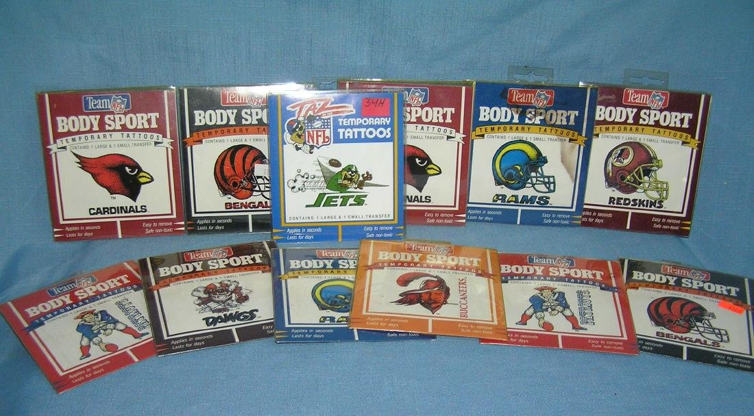 Collection of NFL temporary tattoo kits