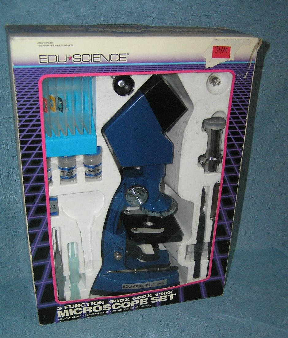 Three function microscope set with original box