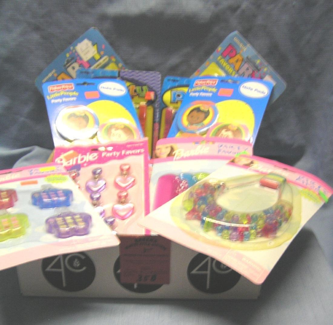 Box full of vintage toys
