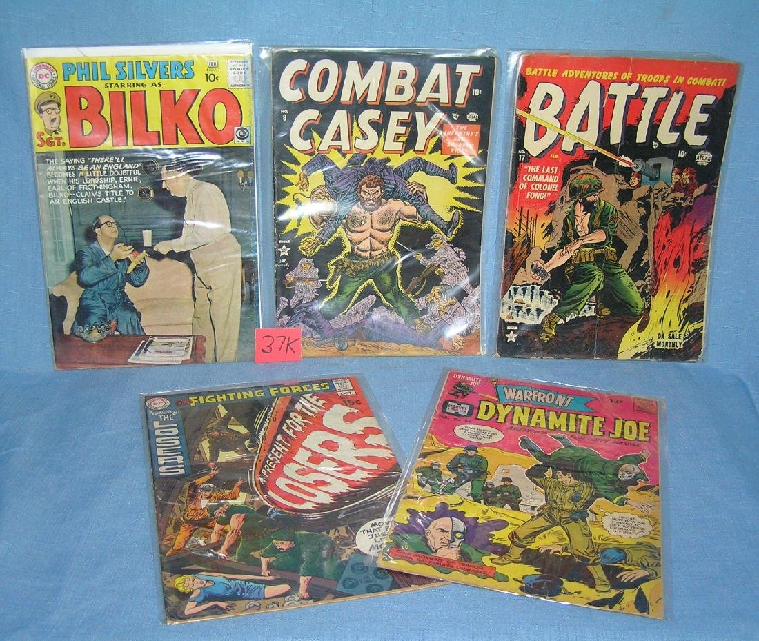 Group of early military themed comics